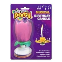 Musical Birthday Candle Pink