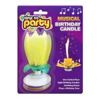 Musical Birthday Candle Yellow