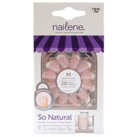 Nailene So Natural Everyday Pink French False Nails 24 Pack