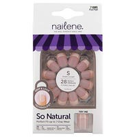 Nailene So Natural Short Pearl French False Nails 28 Pack