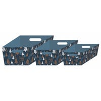 Hamper Trays Navy 3 Piece