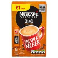 Nescafe Original Caramel 3 In 1 6 Pack