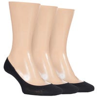 Storm Bloc Womens No Show Socks in Black Size 4-8 3 Pack