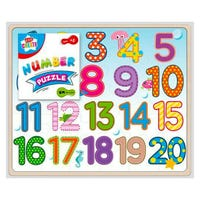 Kids Create Wooden Numbers Puzzle