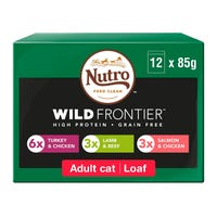 Nutro Wild Frontier Adult Cat Food Pouches 12 Pack