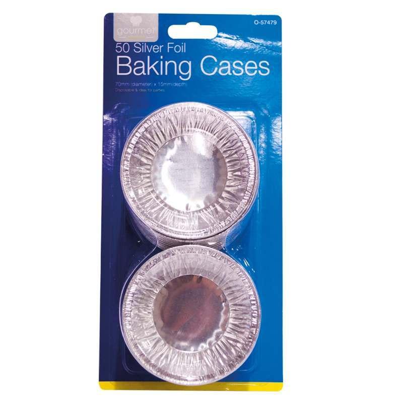 Silver Foil Baking Cases 50 Pack