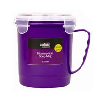 Microwave Soup Mug - Purple