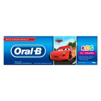 Oral B Kids Cars Sugar Free Toothpaste 75ml