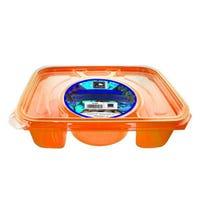 Rectangle Foodserver 4 Compartment Orange