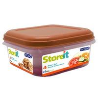 Edgo Food Storage Container Orange 4 Piece