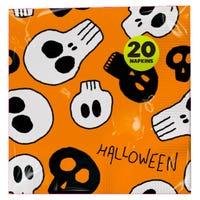 Halloween Napkins Orange 20 Pack