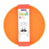 Edgo Dineit Plates Orange 4 Pack