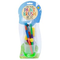 Paint Brush Art Set with Non Spill Cup