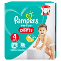 Pampers Baby Dry Nappy Pants Size 4 23 Pack