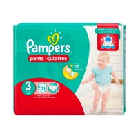 Pampers Baby Nappy Pants Size 3 - 31 Pack