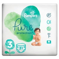 Pampers Pure Protection Nappies Size 3 31 Pack