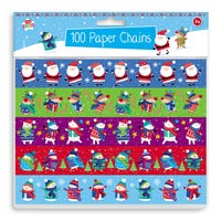 Novelty Christmas Paper Chains 100 Pack