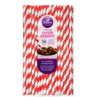 Striped Paper Straws 50 Pack