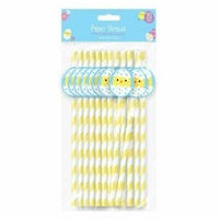 Easter Chick Paper Straws 20 Pack