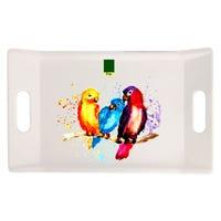 EDGO Melamine Parrot Handled Tray