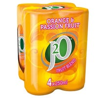 J20 Orange and Passionfruit Can 250ml 4 Pack