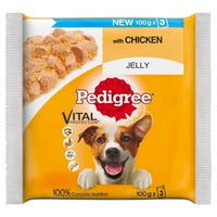 Pedigree Jelly Pouch Chicken 3 x 100g