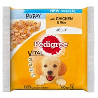 Pedigree Puppy Jelly Pouch Chicken and Rice 3 x 100g