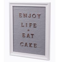 Fabric Pegboard  38cm x 30cm with Rose Gold Letters
