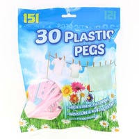 Plastic Clothes Pegs 30 Pack