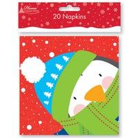 Paper Napkins Penguin 20 Pack