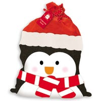 Christmas Plush Penguin Sack