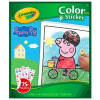 Crayola Peppa Pig Colour and Sticker Book