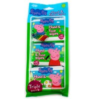 Peppa Pig Hand and Face Wipes 3 Pack