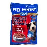 Pets Pantry Complete Meaty Chunks Beef 1kg