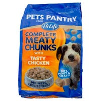 Pets Pantry Complete Meaty Chunks with Tasty Chicken 1kg
