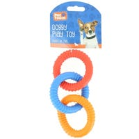 Pet Touch 3 Ring Rubber Dog Toy
