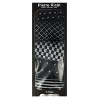 Pierre Klein Mens Socks Gift Box in Stripes and Squares Size 6-11 5 Pack