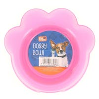 Plastic Paw Shape Doggy Bowl Pink