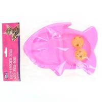 Kitty Feeding Bowl with Play Balls Pink