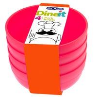Edgo Dineit Bowls Pink 4 Pack