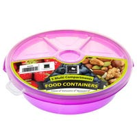 Round Food Server 5 Compartment Purple