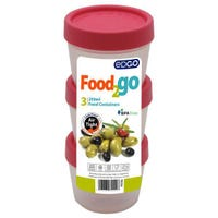 Edgo Food 2 Go 3 x Pink Food Containers 250ml
