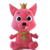 Groovy Shark Soft Toy Pink Fox 35cm