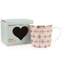 Porcelain Mug Pink Tiles