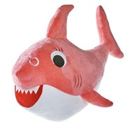 Groovy Shark Soft Toy Pink 35cm