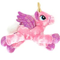 Lying Unicorn Soft Toy 42cm Pink