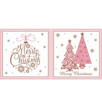 Christmas Cards Pink Trees
