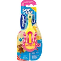 Wisdom Step by Step Toothbrush Pink and Yellow 0-2 Years