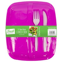 Lunch Box and Cutlery Set Pink