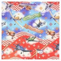 Christmas Gift Wrap Disney Planes Blue 6m
